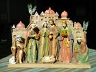 Large 3D ONE PIECE NATIVITY SET HOLY CITY THE PROMISE of CHRISTMAS 15X11 2013