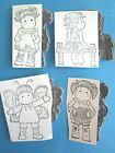 TILDA BUTTERFLY FLOWERS SITTING ON FENCE Cling Rubber Stamps MAGNOLIA Wings