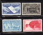 4 MH MNH US BOB Special Delivery Stamps