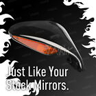 VAWiK OEM replacement LED fairing mirror black for MV Agusta F4 S x1 RIGHT HAND