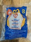 Ty Teenie Beanie, Nuts The Squirrel, McDonalds #8, New in Sealed Bag
