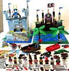 HUGE LEGO PIRATE SHIP CASTLE FORT LOT 11 MINI FIGURES ACCESSORIES CROCODILE BOAT