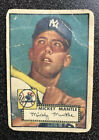1952 Topps Mickey Mantle Rookie Card,#311,Yankees,ungraded