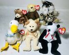 MWMT Original Retired TY Beanie Babies Old Timer, Baron, Socrates, Fortune NEW