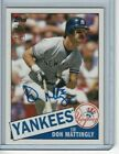 NM Mint 2012 Topps Archives Baseball Don Mattingly On Card Autograph 1985 Style