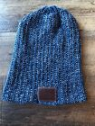 Love Your Melon Blue & White Slouchy Beanie Winter Hat