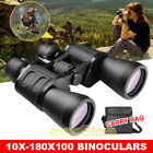 10 180 x 100 Zoom Day Vision Outdoor Travel Binoculars Hunting Telescope Case