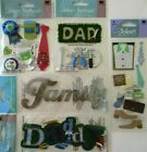 Jolees Boutique Scrapbooking Craft Stickers Lot DADDY Family Dad Father