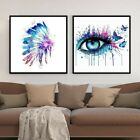 Butterfly Eyes Propylene Painting By Numbers DIY Watercolor Drawing Home Decors