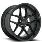 4 20 Staggered Niche Wheels M226 Vice Matte Black Rims B8