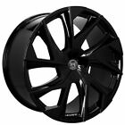 4 22 Staggered Lexani Wheels Ghost Gloss Black Rims B2