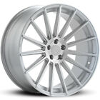 4 22 Staggered Road Force Wheels RF15 Silver Rims B2