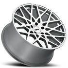 4 20 Staggered TSW Wheels Vale Silve Rims B9