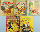 VIntage LITTLE GOLDEN BOOK LOT Disney BIG RED Mickey Mouse TOP CAT Beany CAPTAIN