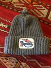 Vintage Triumph Motorcycle Patch Poof-Ball Toboggan Beanie Hat
