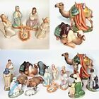 Holland Mold Nativity 1950s 17 Piece Set Signed BEA MATNEY Stunning Detail Flaws