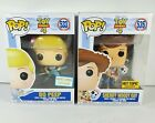 Funko POP Toy Story 4 EXCLUSIVES Sheriff Woody Hot Topic & Bo Peep Barnes Noble