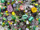 Czech Glass Beads 1lb Bag Of Assorted Shapes And Sizes Lotus Flower