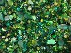 Czech Glass Beads 1lb Bag Of Assorted Shapes And Sizes Leafy Greens