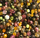 Czech Glass Beads 1lb Bag Of Assorted Shapes And Sizes in Jumbo Fire Polish Mix