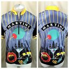 Vintage Sugoi Manhattan Martini Large Pullover 1 2 Zip Retro Cycling Jersey