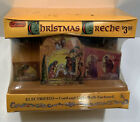 Vintage Regency Plastic Nativity Christmas Creche Solid Electric Plastic Manager