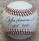 Andre Dawson Expos Cubs Autographed 5 Inscription STAT Baseball JSA Witnessed