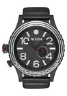 Nixon 51-30 Leather SW Watch Kylo Black A1063SW-2444 NEW IN BOX