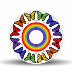 Butterfly Rainbow 1775 Glass Lazy Susan Turntable