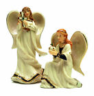 HAWTHORNE VILLAGE Irish Nativity Crown Angel  Standing Angel Pair Lot 2004