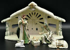 Hawthorne Village Irish Nativity 2003 Holy Creche Lambs Mary Joseph Jesus Sheep