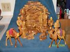 Holy Land Market Olive Wood Nativity Set with Stable Deluxe 18 Piece Set