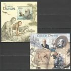 TG823 2012 TOGO FAMOUS PEOPLE CHARLES DARWIN BL+KB MNH