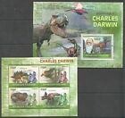TG1295 2010 TOGO FAUNA REPTILES DINOSAURS TRIBUTE TO CHARLES DARWIN KB+BL MNH