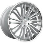4 22 Lexani Wheels Virage Silver Brushed w Chrome Lip Rims B32