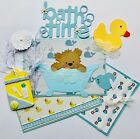 Bath Time Baby Boy Tear Bear 3D Paper Piecing Scrapbok Page Mat Set Die cut Card