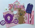Princess Baby Girl Tear Bear 3D Paper Piecing Scrapbok Page Mat Set Die cut Card