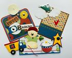B is for Boys Tear Bear 3D Paper Piecing Scrapbooking Page Mat Set Die cut Card