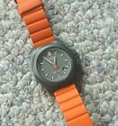 Victorinox Swiss Army INOX Titanium watch model 241758 Orange rubber strap
