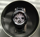 Casio G-Shock Solar Atomic  Mens Watch Stainless Steel Black x Rose Gold 'The G'