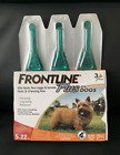 3 Doses Frontline Plus Flea Tick Treatment for Small Dog and Puppies 5 22 pounds