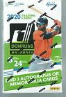 2020 DONRUSS BASEBALL HOBBY BOX FACTORY SEALED 3 AUTO'S OR MEMORABILIA