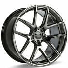 4 20 Staggered Ace Alloy Wheels AFF02 Black Chrome RimsB32