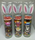 Three 3 NEW Fisher Price Little People Easter Bunny Ears Tube L5783 L5782 L578
