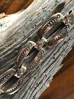 Native American Navajo Sterling Stamped Link Bracelet Signed