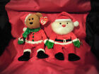 2 SANTA BEANIE BABIES--2004 KRINGLE--1998 SANTA--PRISTINE CONDITION WITH TAGS