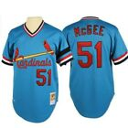 Willie McGee St. Louis Cardinals Jersey #51 Powder Blue 5x 64 100% authentic
