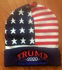 Trump 2020 Keep America Great Embroidered Stars & Stripes Acrylic Hat Beanie NEW
