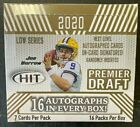 2020 SAGE HIT PREMIER DRAFT FOOTBALL FACTORY SEALED HOBBY BOX 16 AUTOS PER BOX