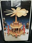 Vintage GERMAN Pyramid 3 Tier Christmas Windmill Nativity Set Candle Holder